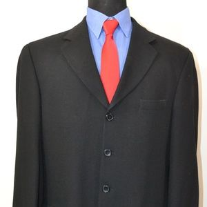 Chiarelli 42L Sport Coat Blazer Suit Jacket Black